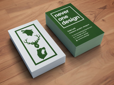 neverone design business card mockup branding minimal slavic bear deer wolf card business businesscard design graphicdesign