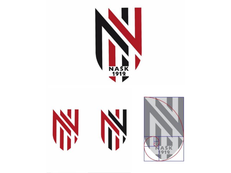 NK/FC NAŠK Našice (Croatia) new logo and branding grafik grafisk marke fibonacci nogomet club coatofarms branding sport soccer football identity
