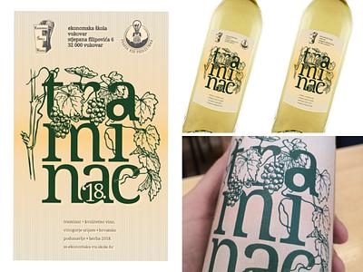 Wine labels for Traminer wine uk royal england gewurztraminer traminac podunavlje danube dunav vineyard label grapes wine design business modern school ekonomskaskolavukovar ilok croatia vukovar