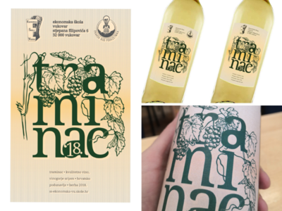 Wine labels for Traminer wine