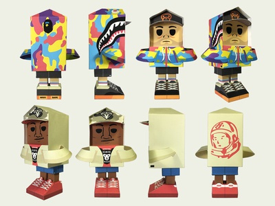 Nigo X Pharrell elroy toy craft paper
