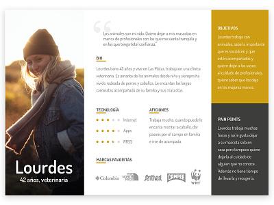 Persona Lourdes - Truffles App visual design ux ux deliverables persona