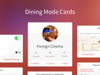 Dining Mode Cards