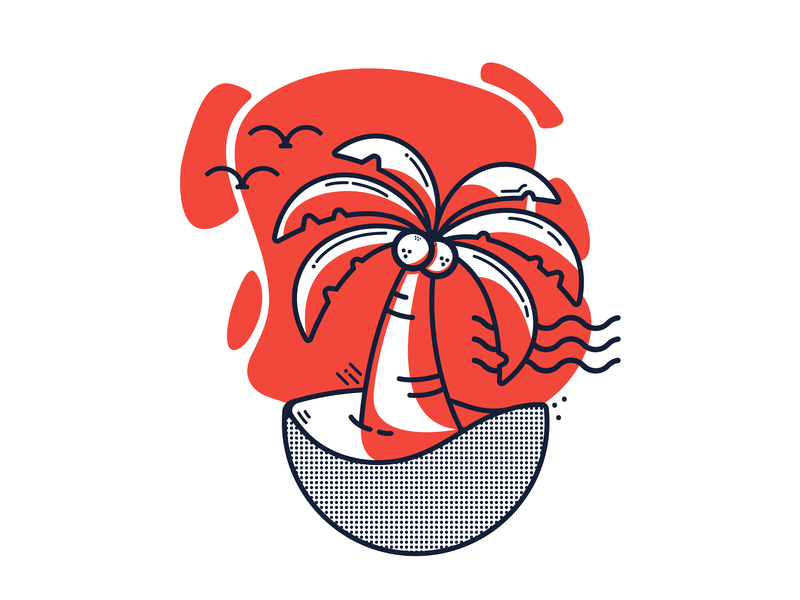 Palmtree life illustration vector design minimalist illustrator drawing palmtree