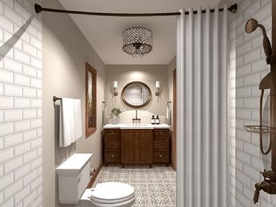 Rendering Modern Victorian Bath