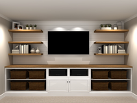 Entertainment Wall Rendering