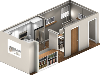 Kitchen and Dining Remodel isometric