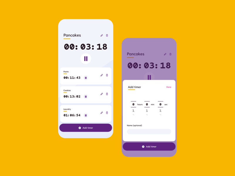 Daily UI 014 - Timer timer vector adobe xd design ui dailyui