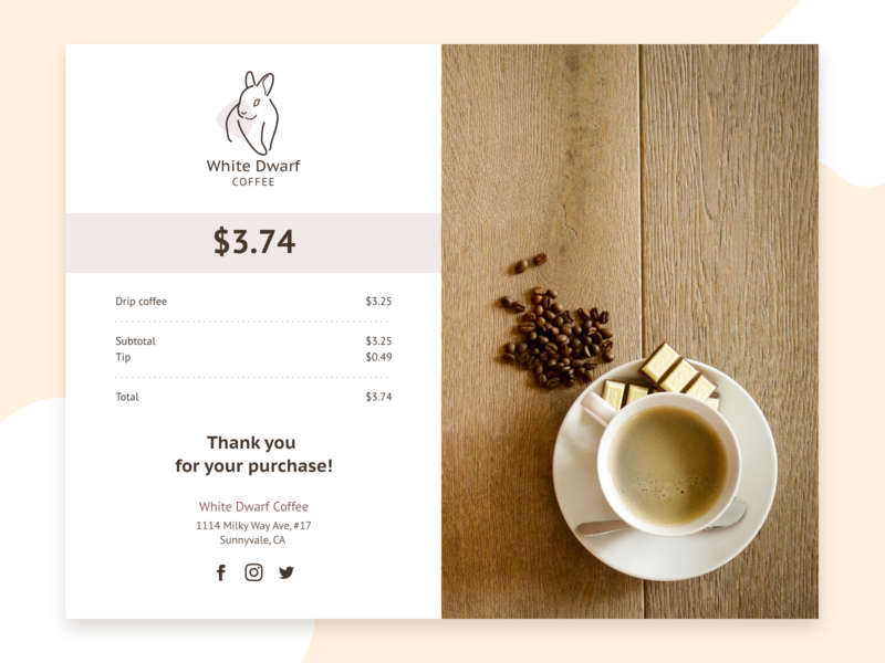 Daily UI 017 - Email Receipt email receipt email design daily ui 017 email design adobe xd dailyui