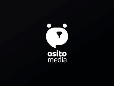 Osito Media Logo media osito oso bear brand logos logo