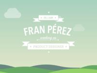 franperez.me portfolio shield fran perez product designer landscape clouds sky