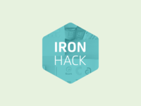 Ironhack Logo logo hexagon education online classes