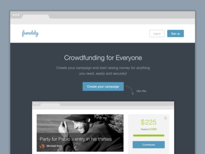 New Funddy funddy redesign new flat icons campaign crowdfunding funding