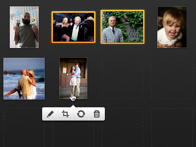 Photo Editing photo upload batch layout selected actions