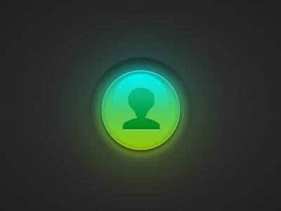 Alien Panic Button alien pictos button panic afro ball glow icon sphere