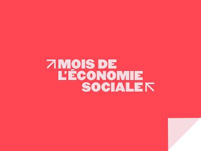 Mois de l'économie sociale - Logo animation social rose red motion logotype logo fun elements economy design colorful bright color branding animation