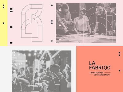 LA FABRIQC exploration ideation graphic platform design deconstruction construction vector identity branding colorful