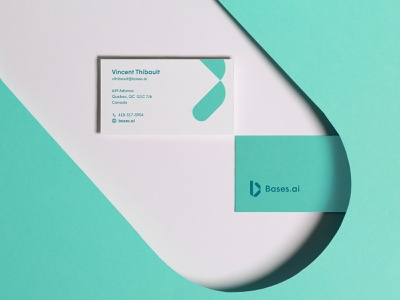Bases.ai card email photography businesscard card design industrial ai identity branding