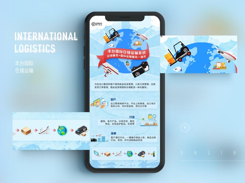International logistics design illustration