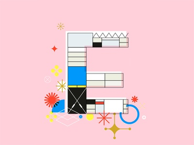 E is for Eames modernism e house eames typography architecture century mid midcentury