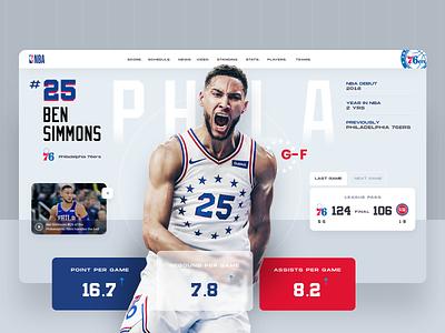 NBA Player ⠿ Work Diary game player basketball nba concept design exploration ui clean