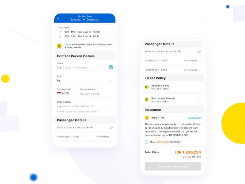 Explore Simple Booking Form Tiket Com By Rian For Tiket Design On Dribbble