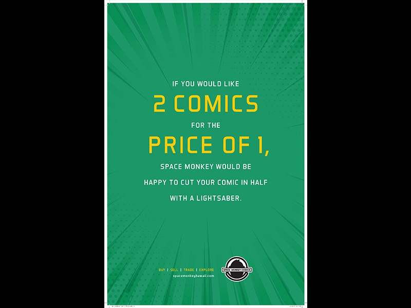 Lightsaber writer ad agency hawaii jedi star wars lightsaber poster monkey space comics