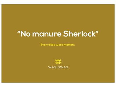 No Manure Sherlock Postcard