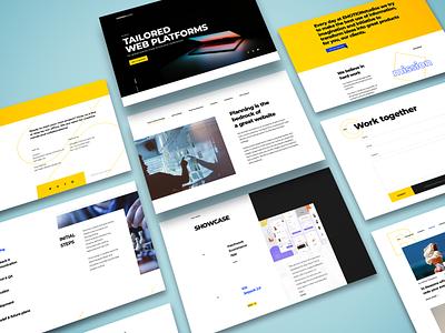 Design Agency Website ux ui design styleguide interaction design ui design