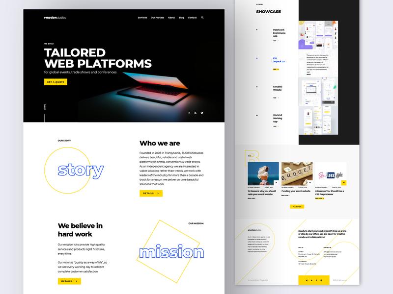 Design Agency Website / Home ui web ux ui design