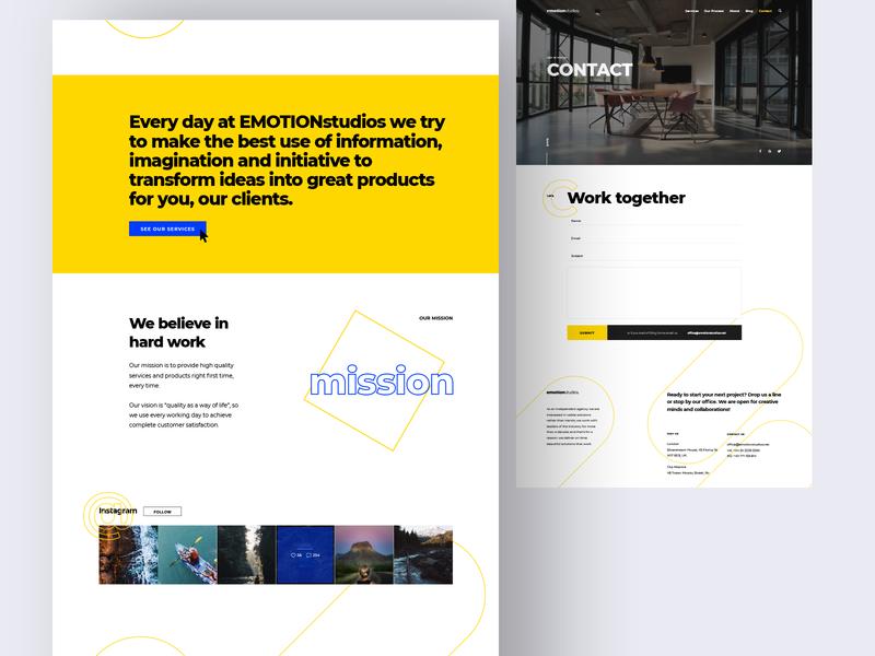 Design Agency Website / About & Contact ui ux ui design