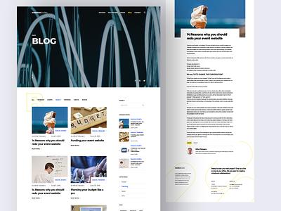 Design Agency Website / Blog ui ux ui design