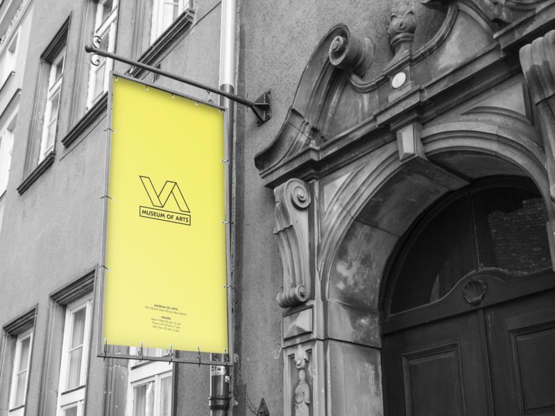 Logo Museum of Arts branding logo