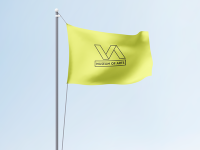 Logo Museum of Arts - Flag design logo branding