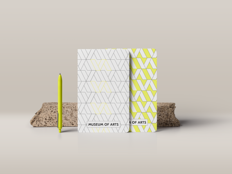 Museum of Arts Branding - Notebooks notebook logo branding