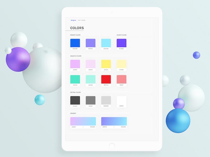 Styleguide 'Teamfocus' colors ui kit styleguide ux ui design ui