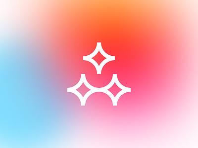 aidarmagic — Personal Logo negative space clean minimal modern font type vector brand magic icon mark identity triangle logo branding twinkle star