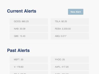 Stockflags - Alerts flat responsive web rwd blue gray stock graph chart money