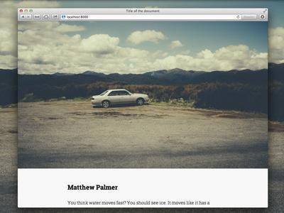 Photo & Content web website ui flag simple photo photographic modern serif