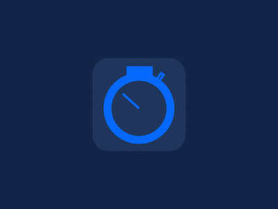 SecondStop Icon flat responsive web rwd blue gray stock graph chart money ios icon iphone simple minimal ipad app mobile
