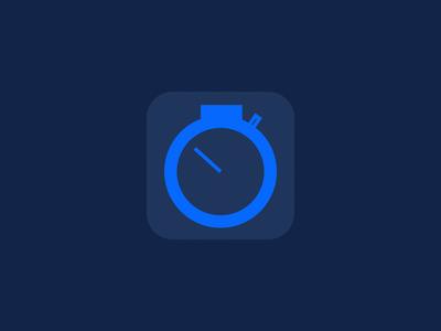 SecondStop Icon flat responsive web rwd blue gray stock graph chart money ios icon iphone simple minimal ipad app mobile