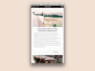 Montic for iPhone ios iphone simple photo flat ios7 design dev