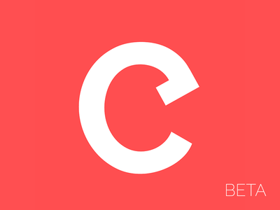 Combust Beta — Logo logo red web social icon combust beta favicon clean white minimal pastel
