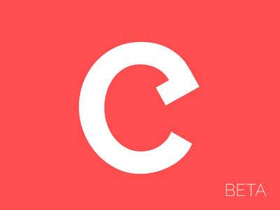 Combust Beta — Logo logo red web social icon combust beta favicon clean white minimal pastel