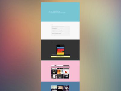 Full Page web blog home colours simple minimalist clean