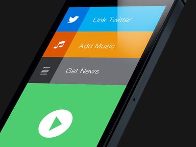 iOS Project iphone ios ipad clean minimalist flat