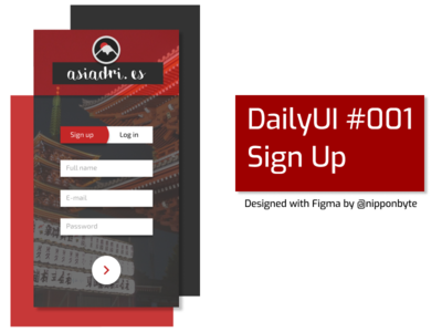 DailyUI #001 - Sign Up design ui signup uidesign dailyui