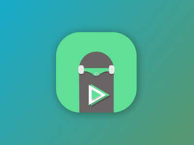 DailyUI #005 - App Icon design ui green player skate appicon icon uidesign dailyui