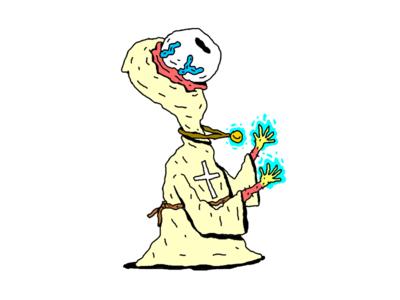 A Healer eyeball character illustration character design healer monster rpg dd dungeons and dragons