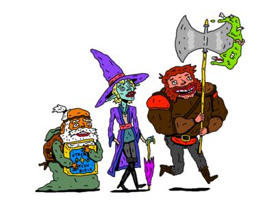 The Adventure Zone Tribute fantasy character illustration digital art illustration character design dnd the adventure zone
